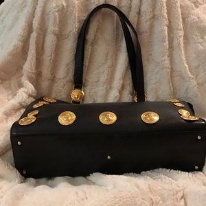 caf90784b0b7 GIANNI VERSACE COUTURE Bags - Rare GIANNI VERSACE MEDUSA BLACK LEATHER  HANDBAG!